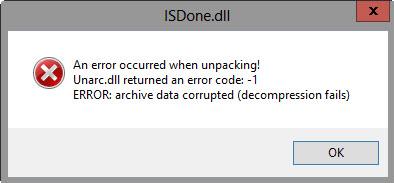 isdone-dll-unarc-error